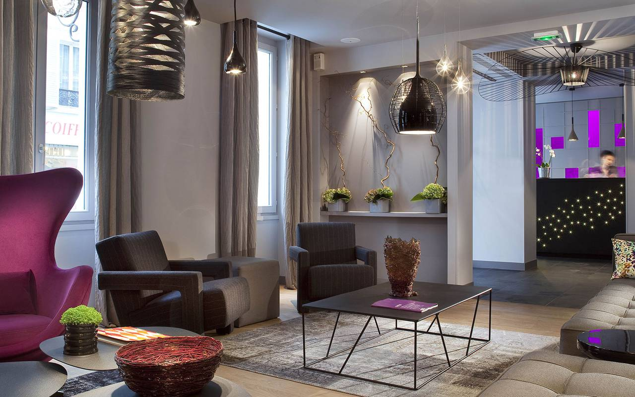 Modern living room Hotel Luxe Paris
