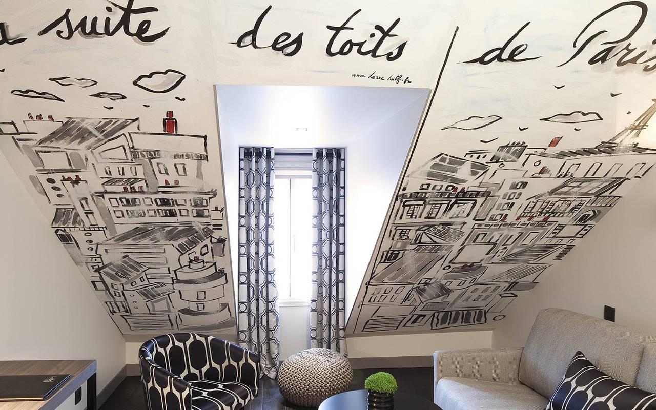 Grey suite luxueuse Hotel Paris Opera