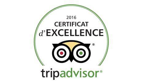 Certificate of excellence Tripadvisor Hotel Paris Opera