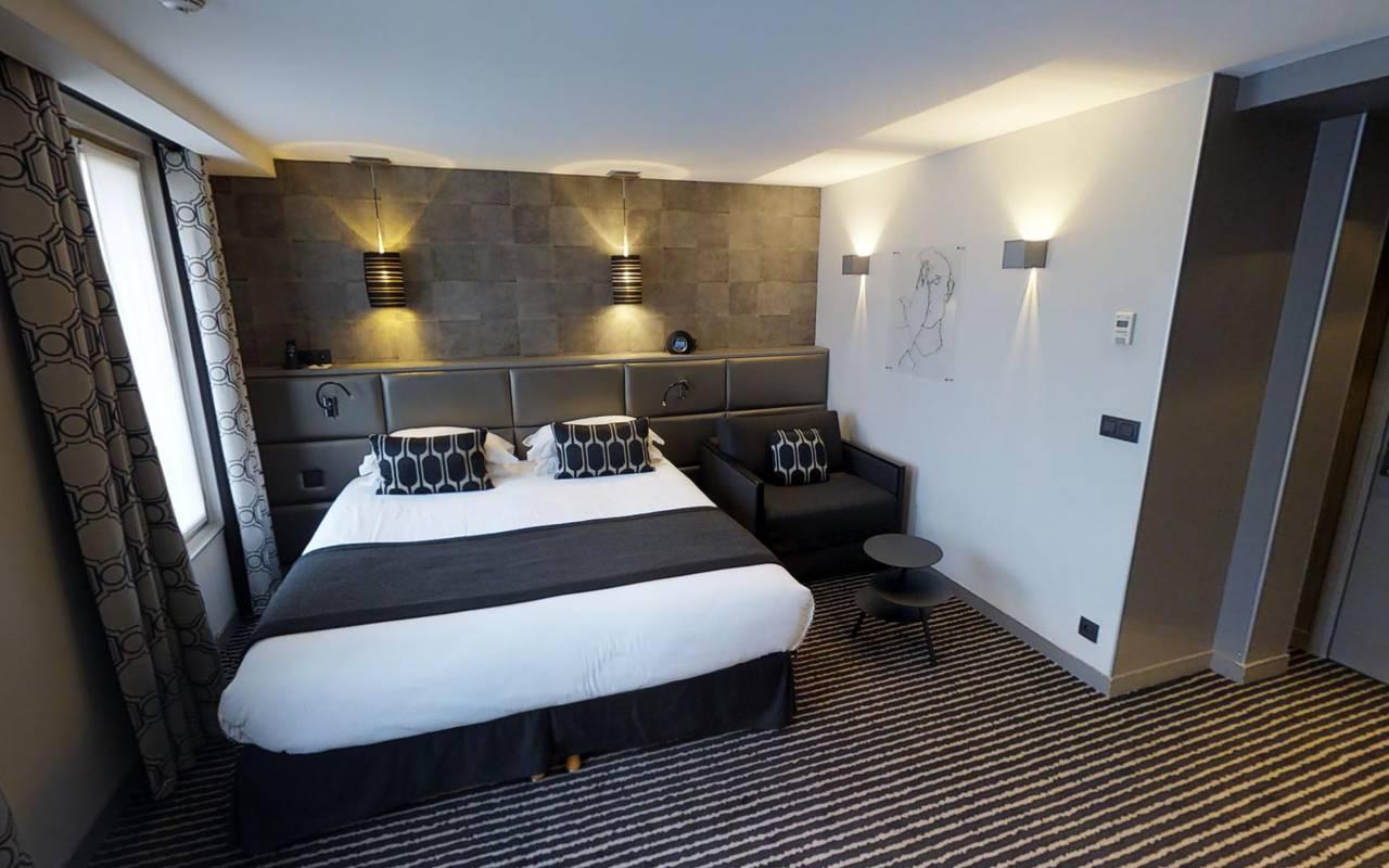 Modern double room Hotel Paris 9ème arrondissement