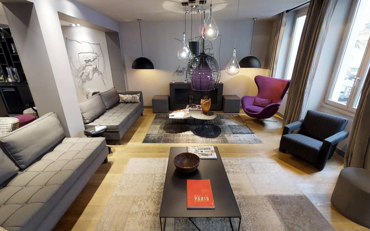 Modern lobby Hotel Paris 9ème arrondissement