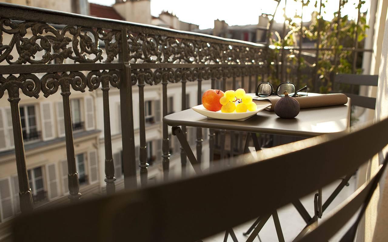 Terrasse extérieure Hotel Paris 9ème arrondissement