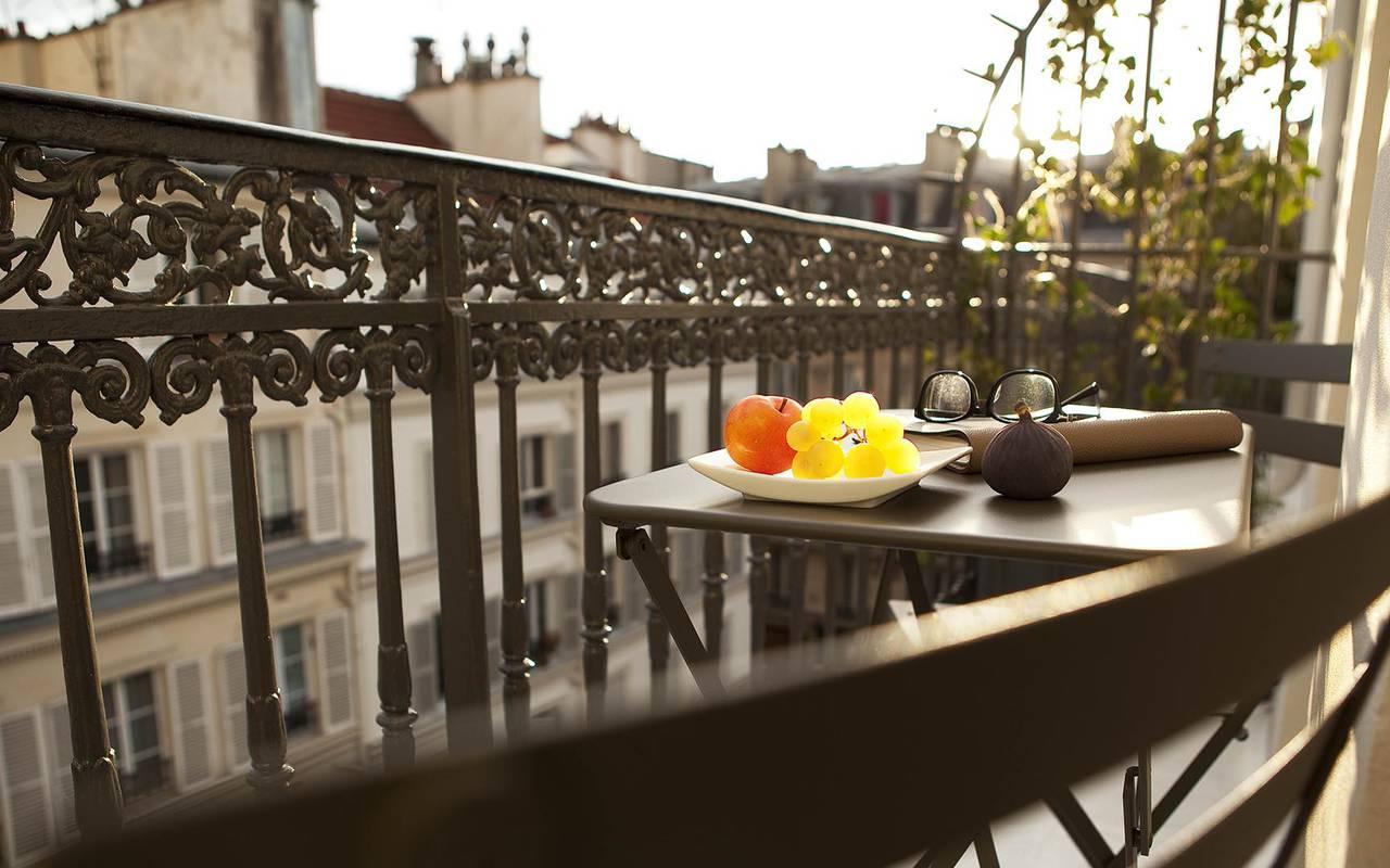 Balcon extérieur Hotel Romantique Paris
