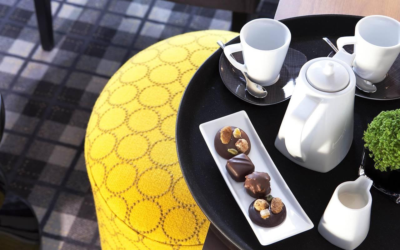 Café sur la terrasse Hotel Paris Opera