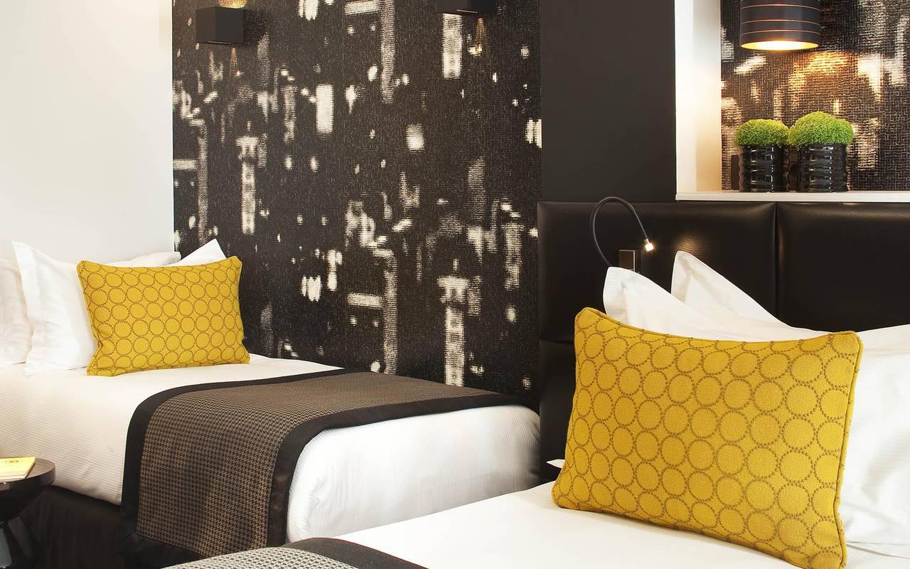 Deux lits Hotel Paris Opera